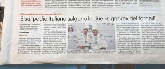 """Medaglia di bronzo Categoria """"Mistery Box"""" Campionato Italiano di Cucina 2020 FIC Rimini"""