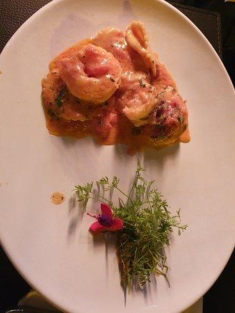 Divino: Sorrentini recheado convite e damascos e molho rosado com camarões
