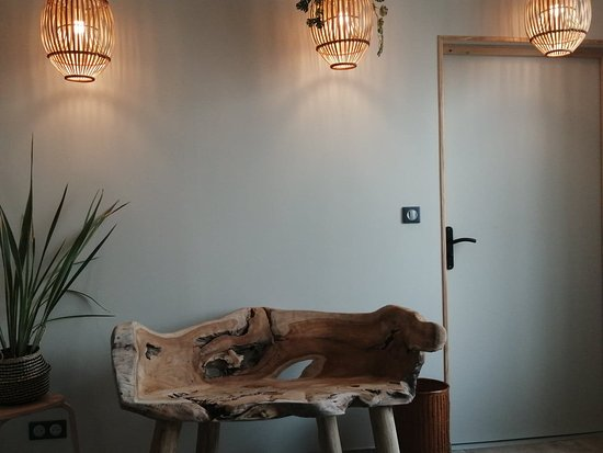 Queant, France: Vestiaire espace détente