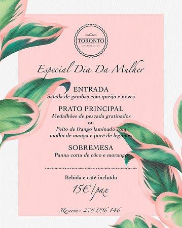 Valpacos, โปรตุเกส: Jantar Especial Dia da Mulher 07/03/20