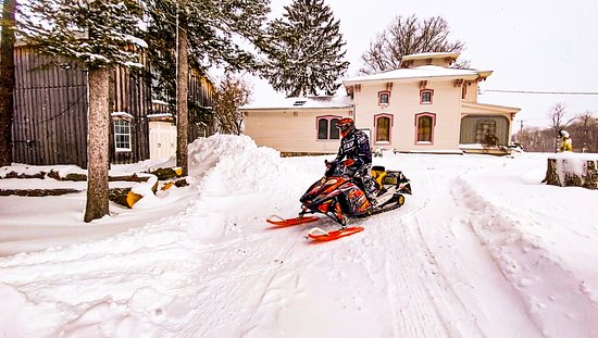 Snowmobiling at BUTLER HOUSE at The Cherry Creek Inn New York