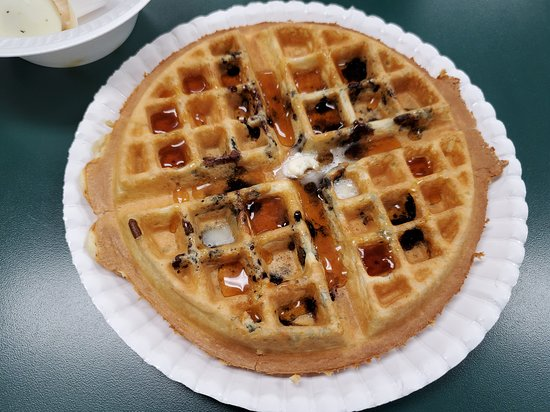 Gallipolis, OH: Made to order breakfast waffle