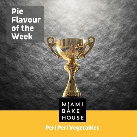 IT'S BACK as this week's Pie of the Week!....Calling all Vegetarians..... and veggie lovers.🥕🍆🌽🌶️ At the Official Great Aussie Pie Awards in 2019 we won the best Vegetarian Pie in Australia for our Peri Peri Vegetable Pie. A great result for the Miami Bakehouse Team🏆🏆🏆🏆🏆 Vegetarians are certainly not forgotten in the Miami Bakehouse Pie world and we know that just because you choose veggies, it doesn't mean you don't like a good pie and great flavour!