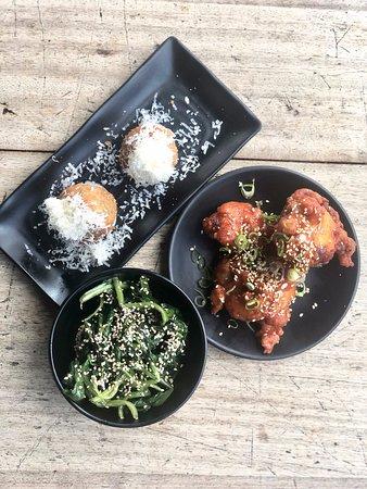 Katsu Chicken Arancini, Chicken Wings