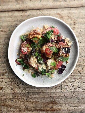 Pork Belly & Grapefruit Salad