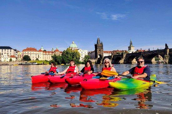 Prague on kayak tour