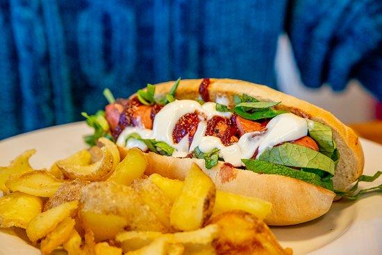 Genola, Italija: Il Granda-Dog | L'Hot Dog de La Granda, con misto carne di Razza Bovina Piemontese e Carne di Suino