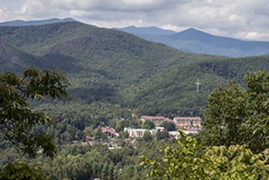 An overlook of the Ridgecrest Conference Center campus