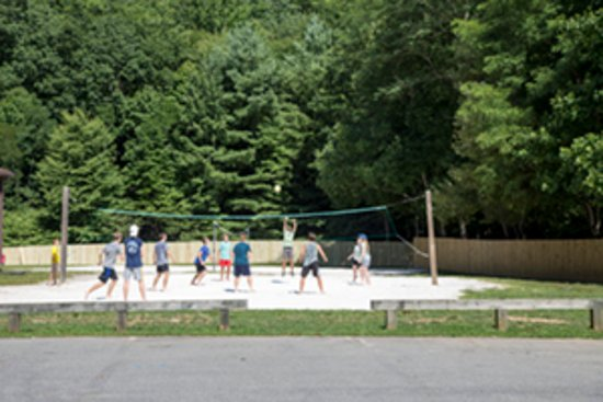 Sand volleyball court at Ridgecrest Conference Center