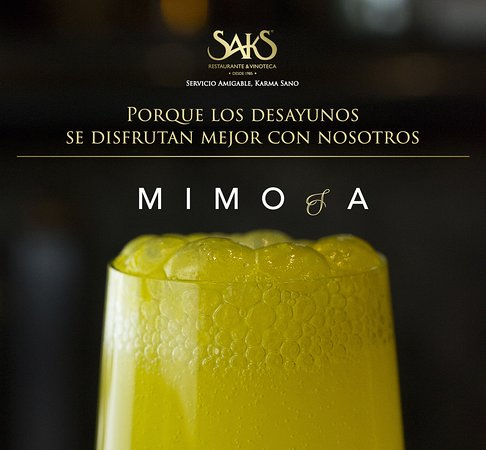 Acompañe su desayuno con una de nuestras bebidas espumosas. #LaChispaDeLaVida #SaksElOriginal