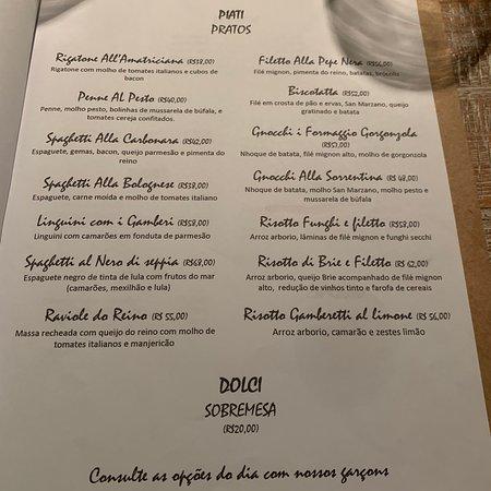 Excelente restaurante italiano