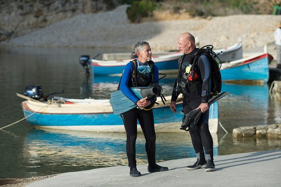 Marsalforn, Malta: Heike and Thomas at Inland Sea