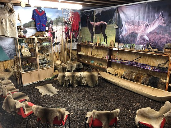 Matlock, UK: The inspiring space where we display the crafts we have made on our bushcraft courses and also where we lead weekend craft and skills workshops from game preparation to greenwood carving to name but a few!