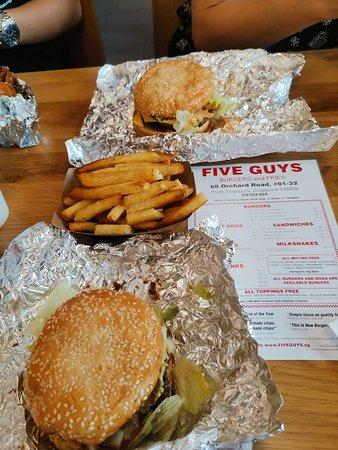 Five Guys Singapore Central Area City Area Restaurant Reviews
