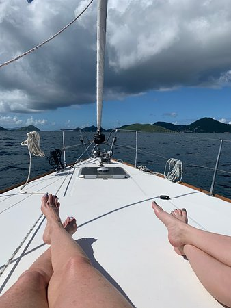Full Day Jost Van Dyke, BVI Sail and Snorkel Trip: Living large.