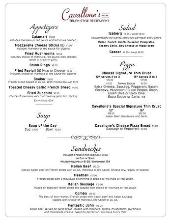 Minooka, IL: Dining Menu
