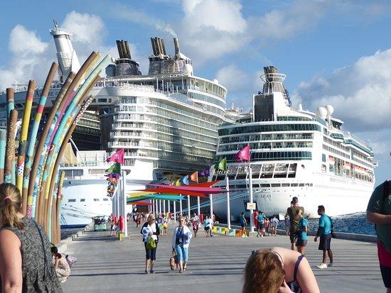 Grandeur of the Seas: The Grandeur OTS (right) next to the Allure OTS (left)