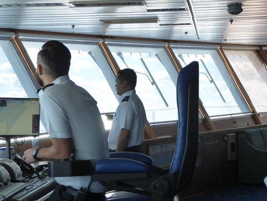 Grandeur of the Seas: On the bridge of the Grandeur OTS (1)