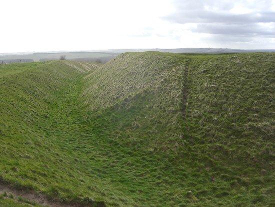 Uffington, UK: Part of the castle ditch