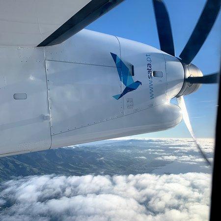 SATA - Azores Airlines: Just over Ponta Delgada