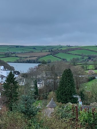 Stoke Gabriel, UK: View from private balcony.