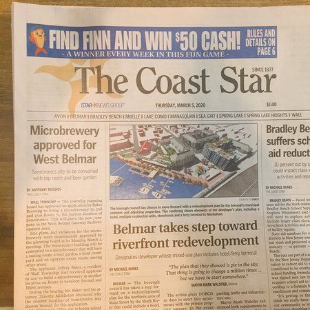 All the Local news for to print... The Coast Star. On sale at Driftwood. #TheCoastStar #DriftwoodCoffeeHouse #CoffeeAndThePaper #LoveSpringLake