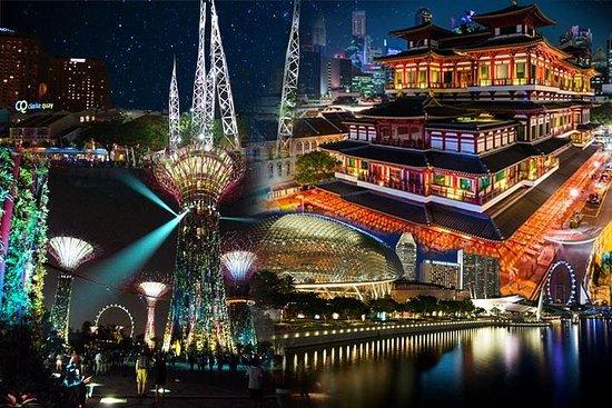 Singapur-Stadtrundfahrt bei Nacht