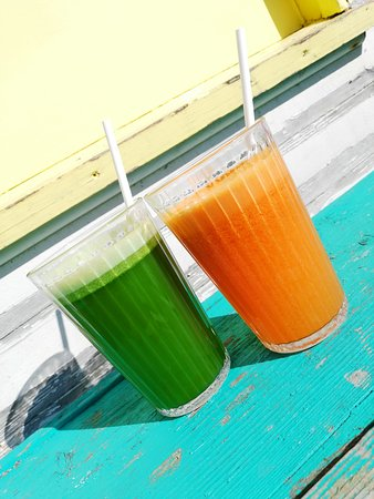 Blackrock, Ierland: Fresh juices in Aggie's Cafe
