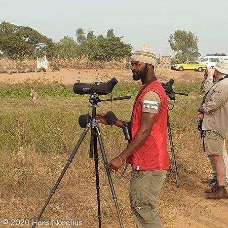 Marakissa, Gambia: Omar Barry in action