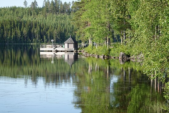 Trehorningsjo, שוודיה: Vår härliga bastuflotte