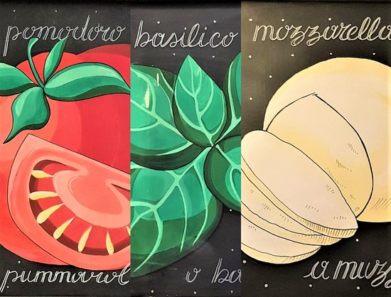Pomodoro, Basilico e Mozzarella.