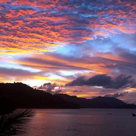 Beautiful sunset from laketoba