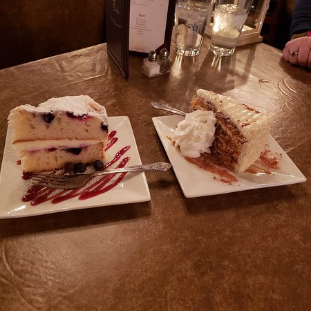 Whitewater, WI: Left is Lemonberry Marscarpone, right side is carrot cake