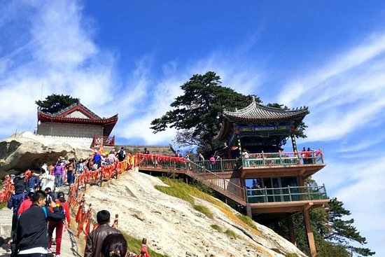 華山への西安全日アドベンチャー旅行