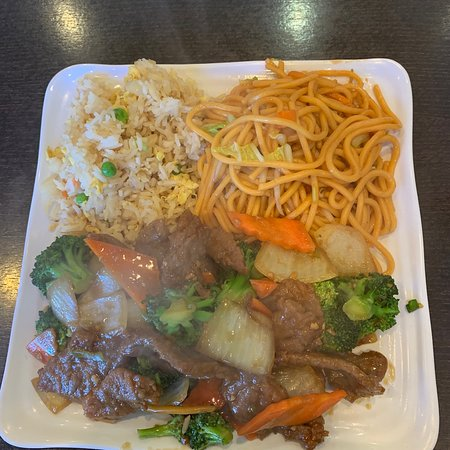 Beef with Vegetables w/fried rice & noodles