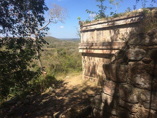 Tekax, Mexico: Hillside ruin