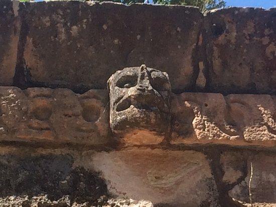 Tekax, Mexico: Main plaza carving