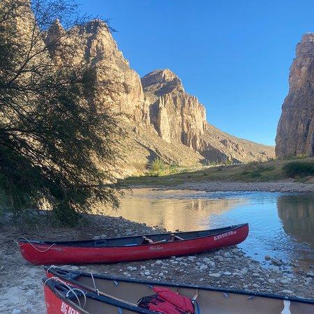 Canoeing through Boquillas Canyon