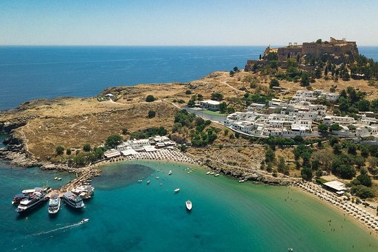 Lindos Day Cruise from Rhodes Town with Swimming stops and Hotel...