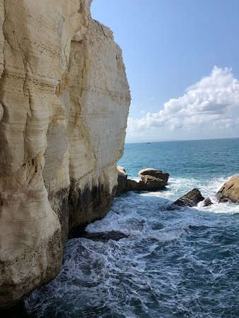 Rosh Hanikra, Israel: The Elephant rocks, above the grottoes
