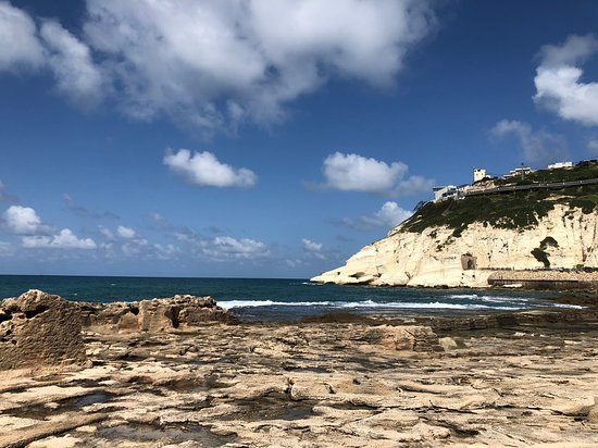 Rosh Hanikra, Israel: Looking back from the coast
