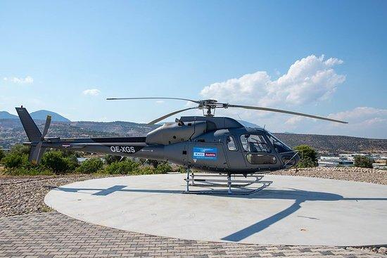 サントリーニ島の30分のプライベートヘリコプター観光ツアー