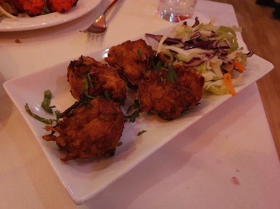 Jai Ho at The Coppingham Arms: onion bhajia