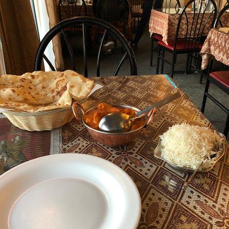 Great chicken tikka masala & naan