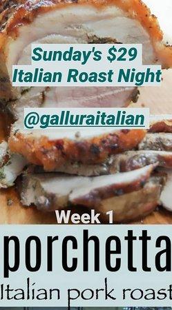 Sunday Evening OPENING 22ND MARCH 2020 ITALIAN ROAST FEAST