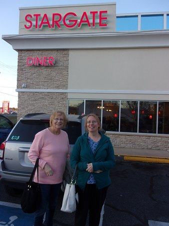 Seaford, DE: My wife Marie and my daughter Janet posed at the entrance