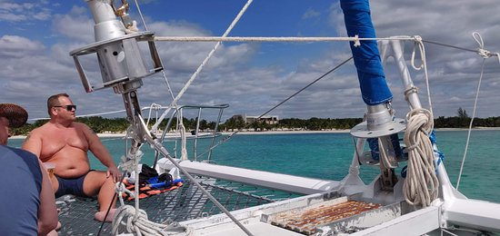 Ảnh về Catamaran Cruise with Lunch and Open Bar from Riviera Maya