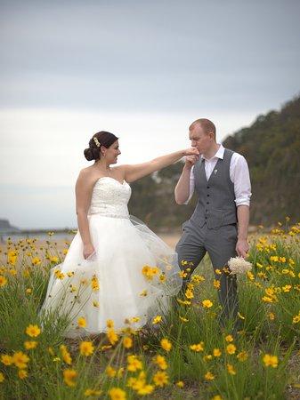 Ocean Beach, Australia: Just Married!