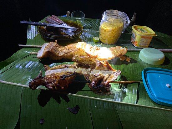 Careiro, AM: noite na selva - jantar divino pirarucu, frango.