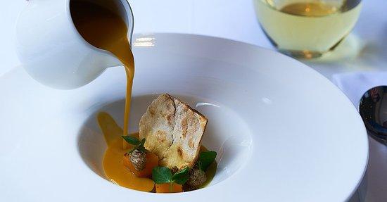 Dunkeld West, South Africa: Butternut soup   pumpkin seeds   cumin crème   lemon thyme